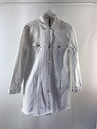 Sırt baskılı uzun ceket