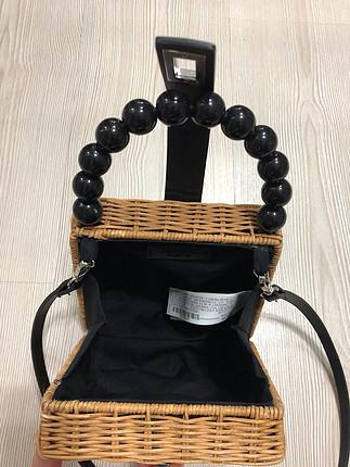 diğer Beden Zara model hasır çanta