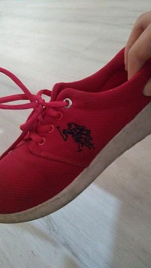 39 Beden kırmızı Renk U.S Polo spor ayakkabı