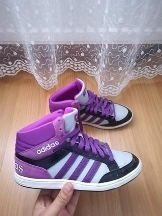 36 Beden mor Renk Adidas Hoops spor ayakkabı