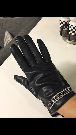 Joymiss taşlı deri eldiven