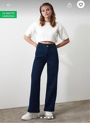 İspanyol Paça Mavi Jean