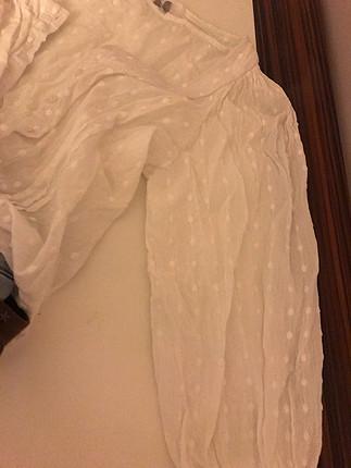 m Beden beyaz Renk Vintage parça gömlek