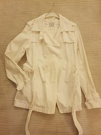 tertemiz yepyeni beyaz keten ceket