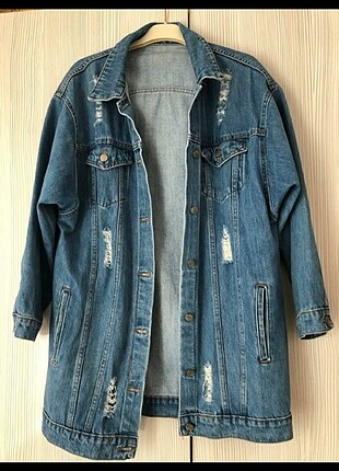Oversize uzun kot ceket