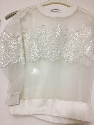 Vintage Love Şifon dantelli bluz
