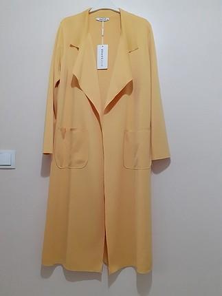 sarı ceket etiketli hiç giyilmemiş