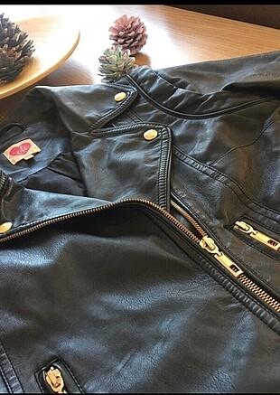 Koton Siyah deri ceket
