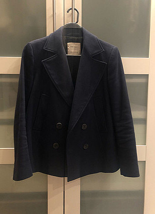 Düğmeli kısa bel ceket