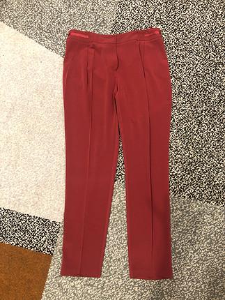 Bordo kumaş pantalon