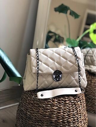 Krem çanta