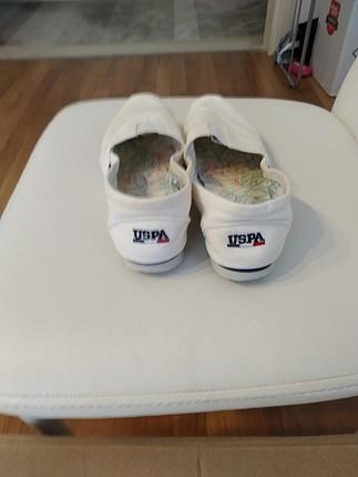 37 Beden polo beyaz ayakkabi