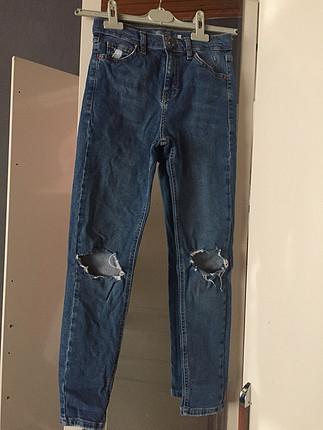 Dizi yırtık model pantolon