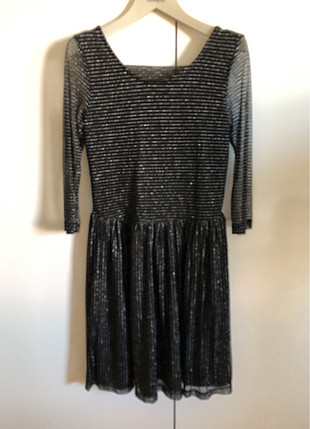 s Beden siyah Renk Siyah simli elbise