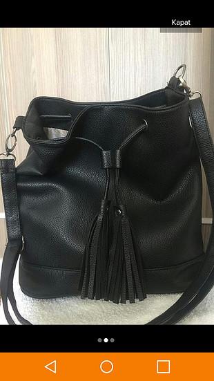 Addax Siyah kol çantası