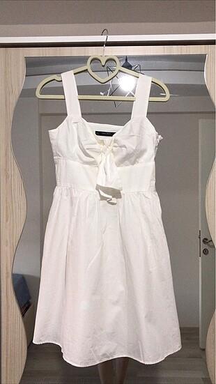 Zara beyaz elbise