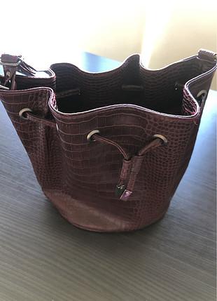Bordo omuz çantası