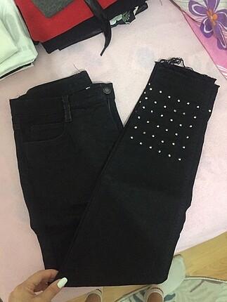 Siyah kot mom jeans