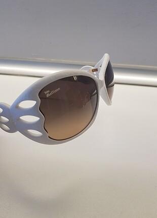 John Galliano Beyaz Gözlük