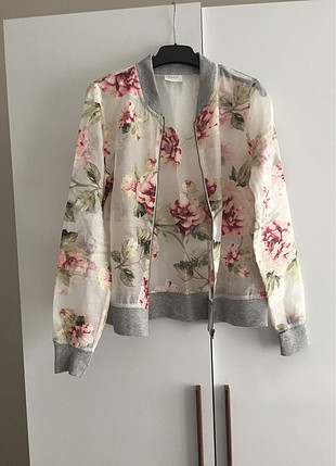 VILA CLOTHES marka şık tülden bomber ceket