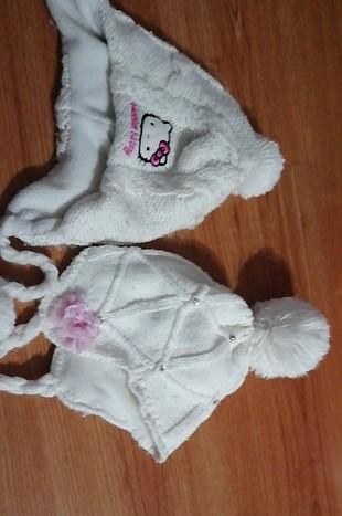 kiz bebek 1-2 yaş şapka