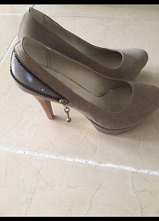Vizon topluklu ayakkabı