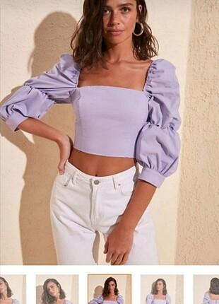 Trendyol Milla lila bluz/gömlek