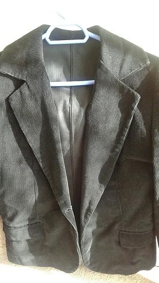 Kadife kısa ceket