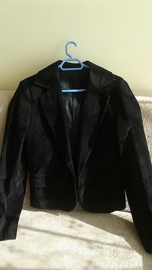 m Beden siyah Renk Kadife kısa ceket