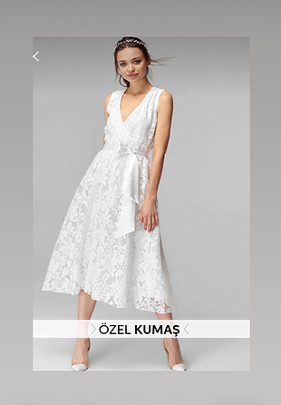 Güpürlü Beyaz elbise