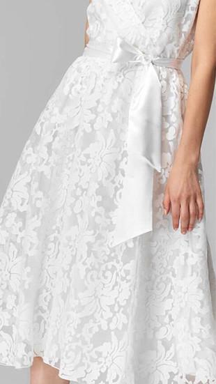 Milla Güpürlü Beyaz elbise