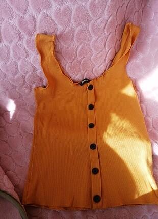 Hardal sarısı tişört