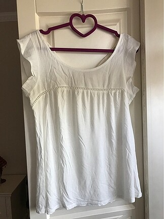 Beyaz şık bluz