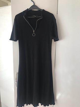 Mavi Siyah elbise