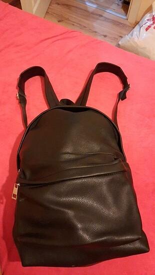Mat deri çanta sırt çantası