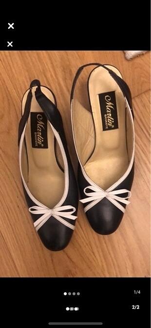 Hakiki deri lacivert beyaz martinin ayakkabısı