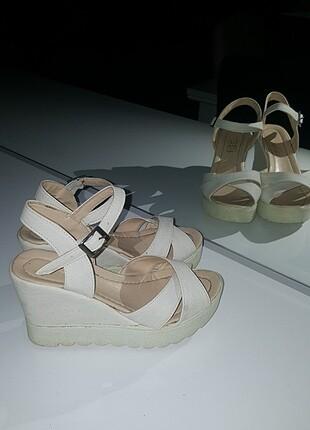 Koton Yazlık dolgu topuk ayakkabı