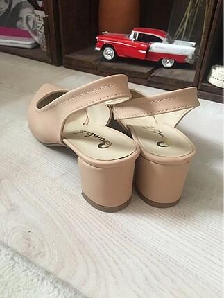 39 Beden ten rengi Renk Yeni-Günlük topuklu ayakkabı