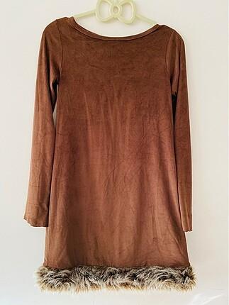 Kadifemsi triko elbise
