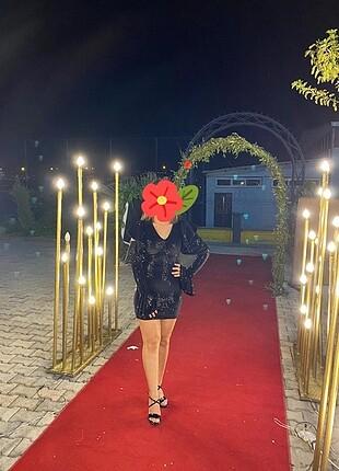 s Beden Payetli mini elbise