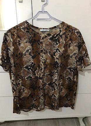 Zara zara yılan desenli tişört