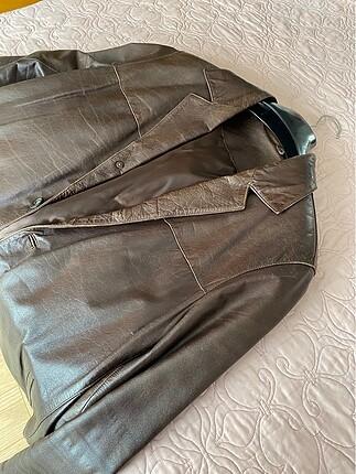 Vintage Süvari Deri Ceket