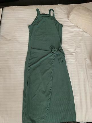 Yesil gunluk hos elbise