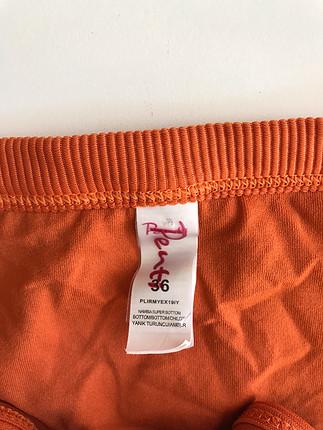 36 Beden turuncu Renk Bikini takımı