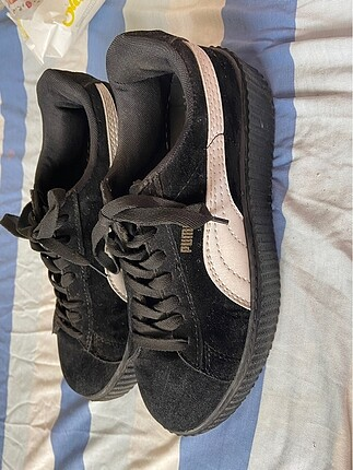 Puma süet siyah ayakkabı