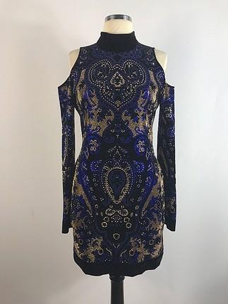 38 Beden Taşlı Elbise