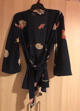 Koton beli kuşaklı bluz