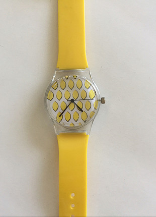 Limon Desenli Silikon Saat