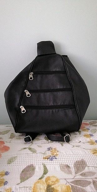 siyah 3 gözlü çanta