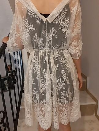 Massimo Dutti beyaz elbise